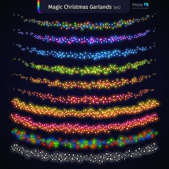 Magic christmas garlands set