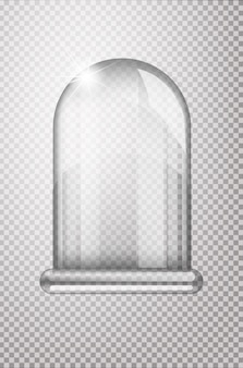 Magic crystal flask of glass. empty snow bulb. white transparent glass flask on a stand. christmas glass bulb on transparent background. transparent object for designflask,