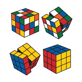 Magic cube with rotated sides