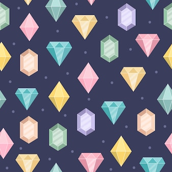 Magic diamonds seamless pattern.