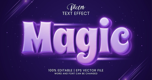 Волшебный редактируемый стиль текстового эффекта