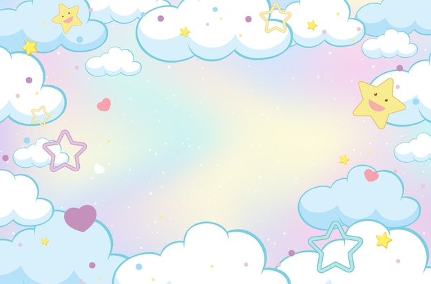 Magic fairy tale pastel sky background