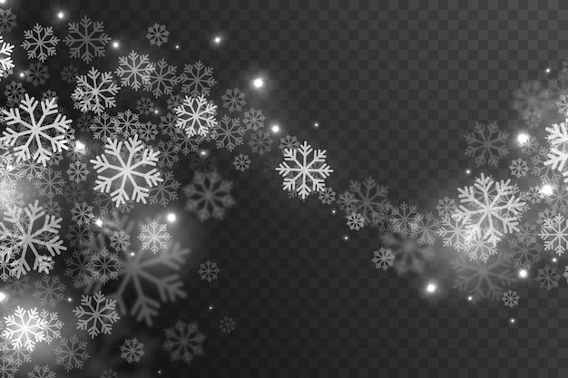 Magic falling snow effect