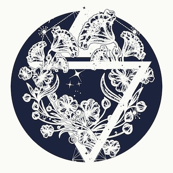 三角形の魔法の花