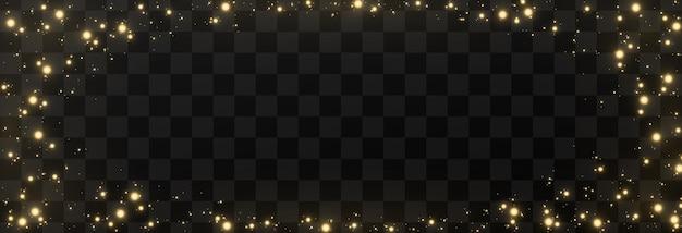 透明な背景に魔法の輝き