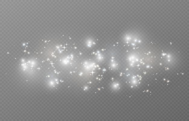 Magic glow on transparent background