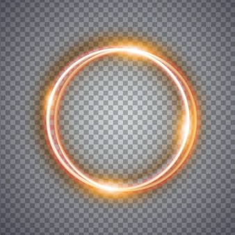 Magic gold circle light effect. illustration isolated on background. graphic concept for your design
