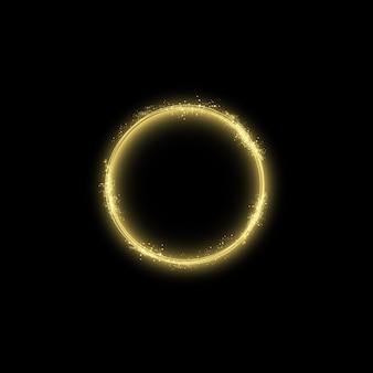 Волшебный золотой круг световой эффект.