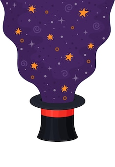 Magic hat isolated on white background. wizard cap.
