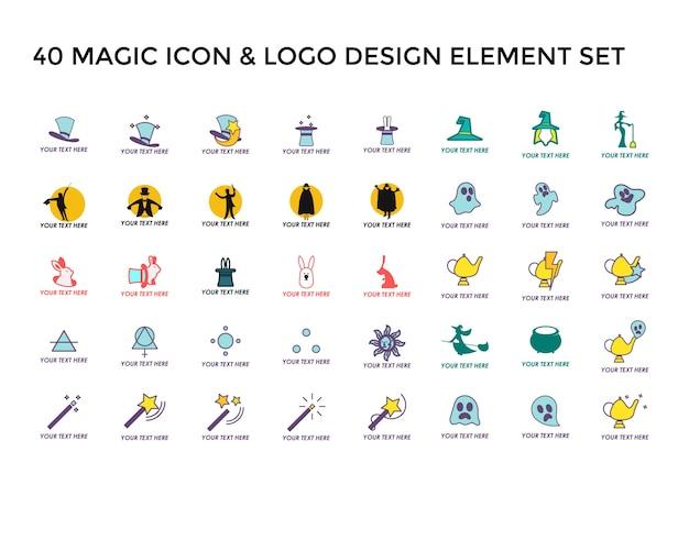 Magic iconロゴデザインセット