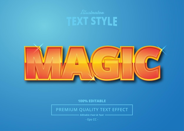 Magic illustrator text effect