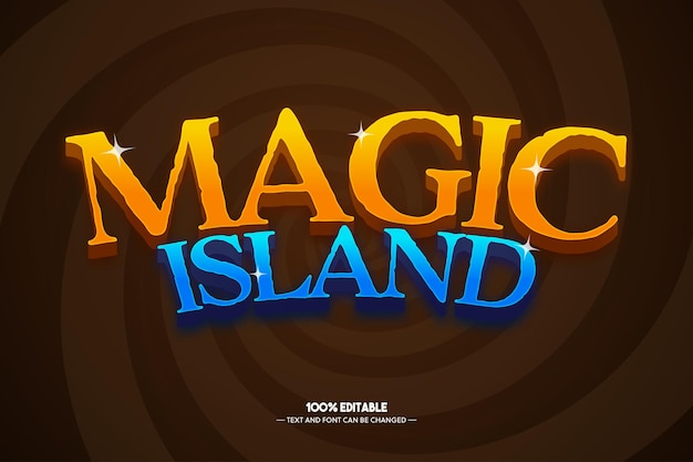 Magic island text style for game title