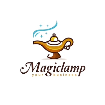 Magic lamp logo design