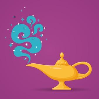 Magic lamp . spiritual lamp for wish