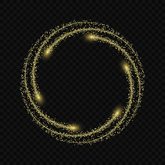 Magic light glow effect stars bursts