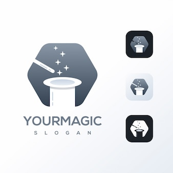 Magic logo design template ready to use