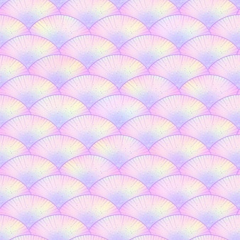Magic mermaid scales seamless pattern.
