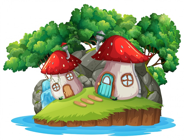 A magic mushroom house