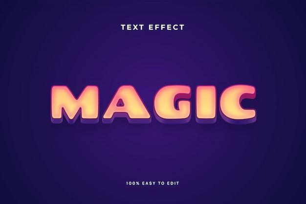 Magic purple yellow inner glow text effect