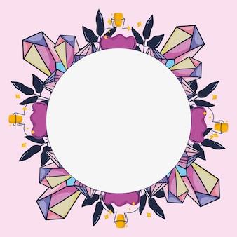 Magic quartz frame