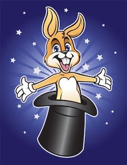 Волшебный кролик выходит из шляпы