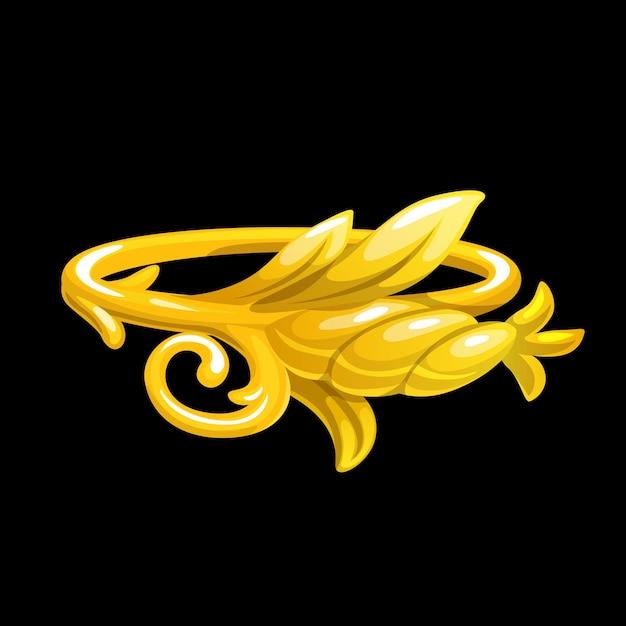金の花の魔法の指輪、金の花のファンタジージュエリー