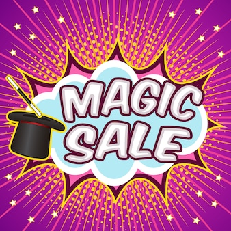 Magic sale background