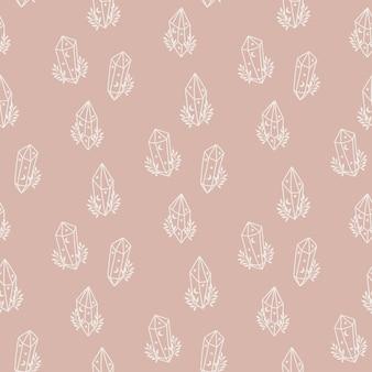 꽃 크리스탈 마법의 완벽 한 패턴