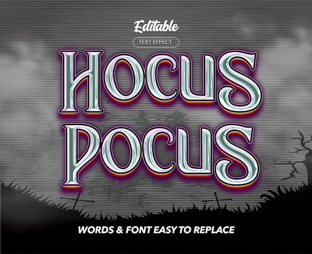 Magic show theme style vector text effect