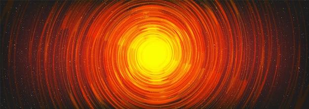 우주 우주 배경에 마법의 나선형 블랙홀