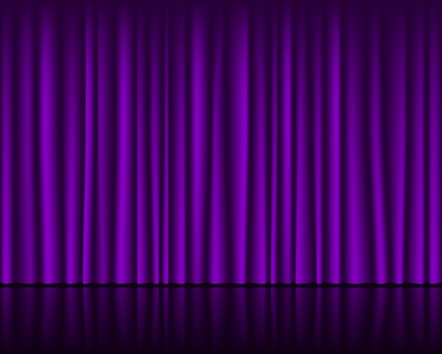 Magic stage with purple curtain seamless template