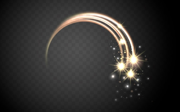 Magic stardust ring, splendid decoration isolated