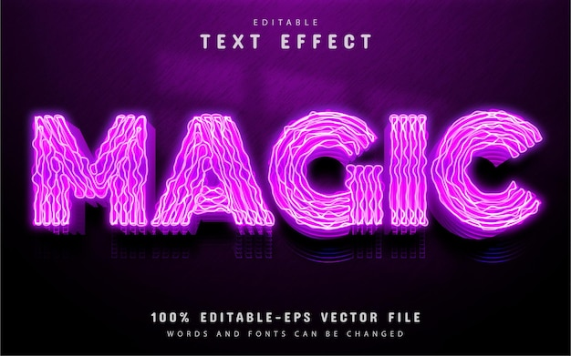 Magic text effect neon style