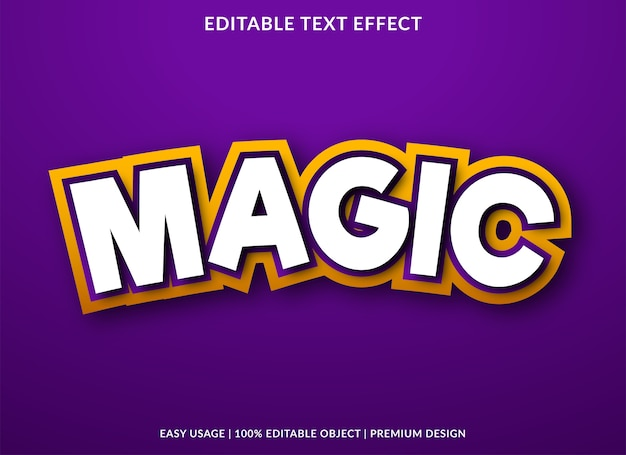 Magic text effect template premium style