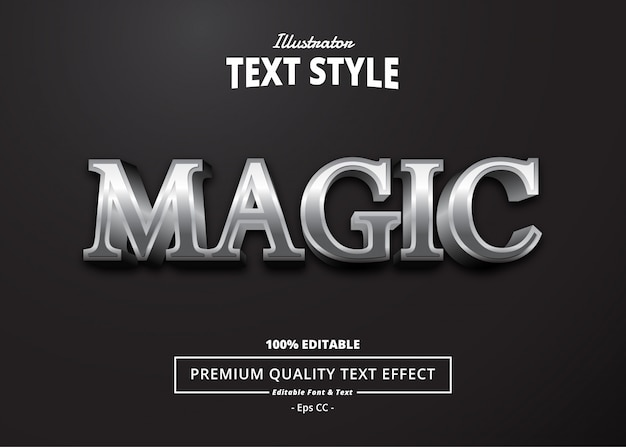 Magic text effect