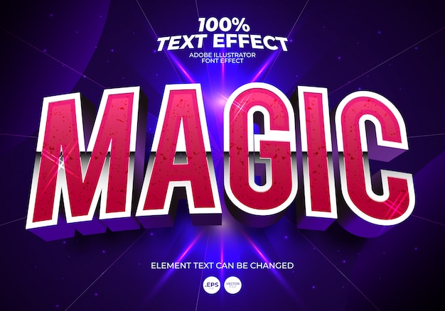 Magic text effect