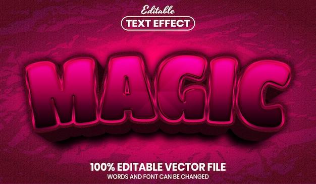 Magic text, font style editable text effect