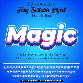 Magic text style editable font effect