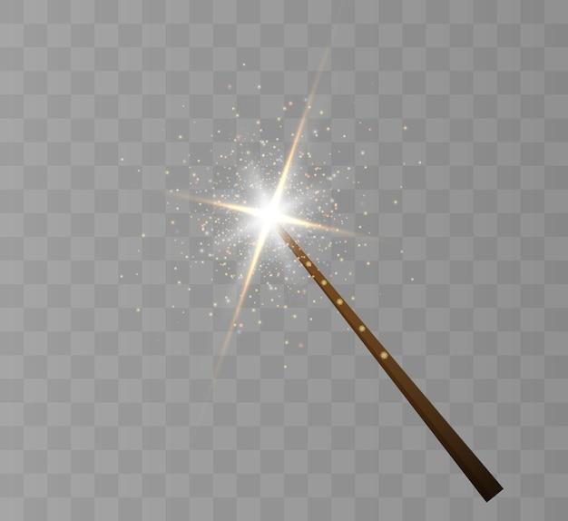 Magic wand.  illustration. isolated on black transparent background.