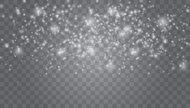 Magic white snowfall texture. winter snowstorm.
