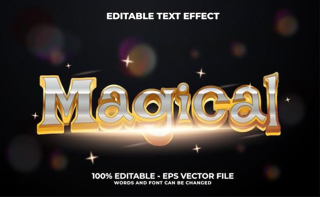 Magical 3d modern editable text effect template style premium vector