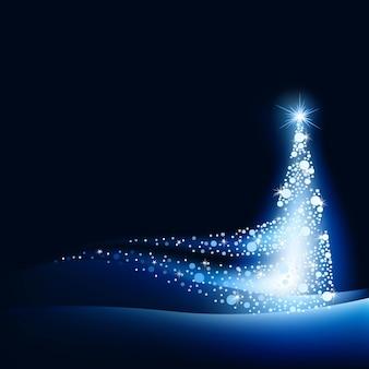 Волшебная синяя светящаяся рождественская елка