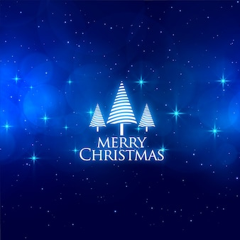 Magical blue merry christmas stars background