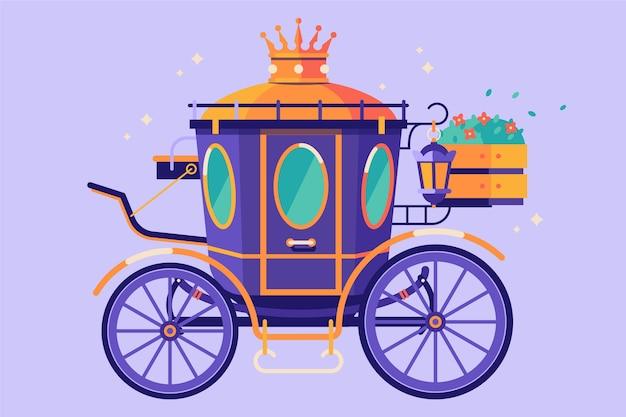 Magical fairytale carriage concept
