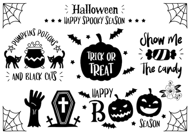 Magical halloween quote illustration vector for banner, poster, flyer