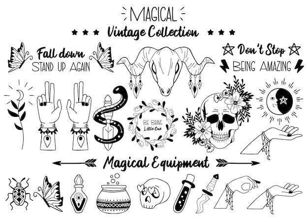 バナー、ポスター、チラシの魔法のハロウィーンの引用イラストベクトル