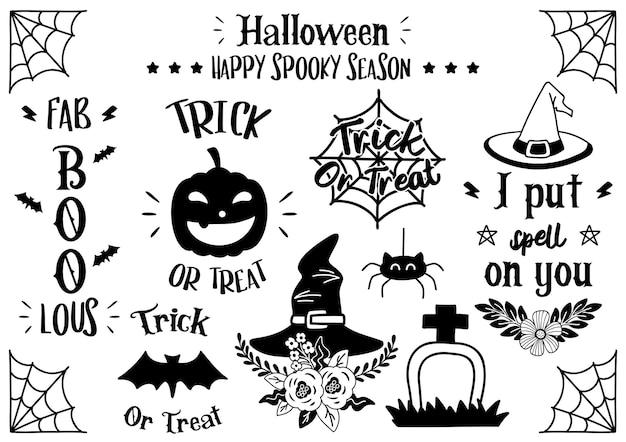 Волшебный хэллоуин цитата иллюстрации вектор для баннера, плаката, флаера