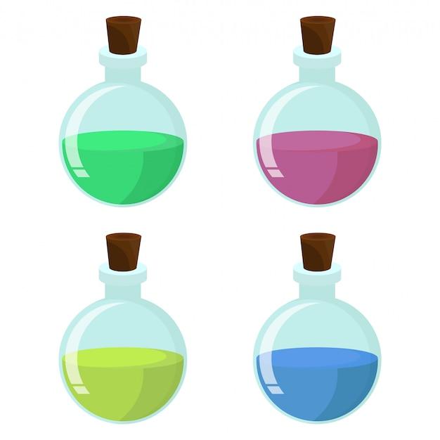 Magical potion design illustration isolate on white background