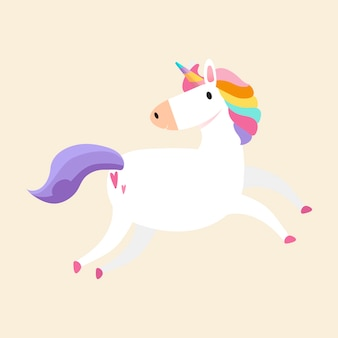 Magical rainbow unicorn illustration vector