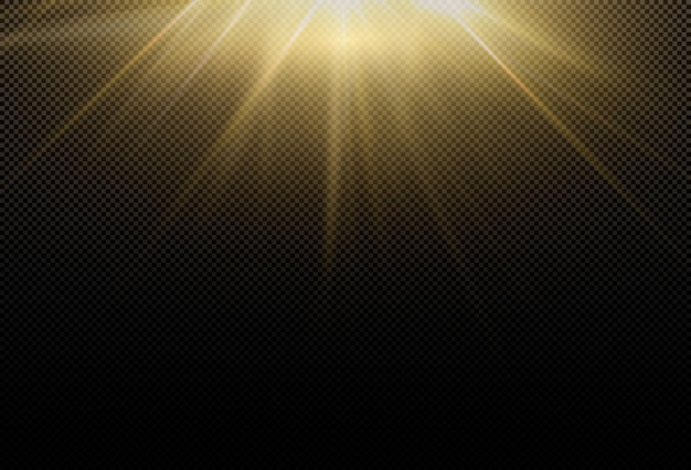 Magical sparkling golden glow effect. powerful energy flow of light energy.